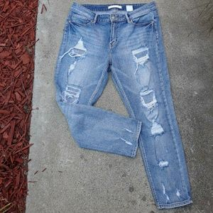 Sky Blue Distressed Jeans